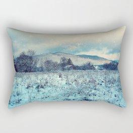 Snowy mountain landscape Rectangular Pillow