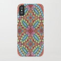 Flower Design iPhone X Slim Case