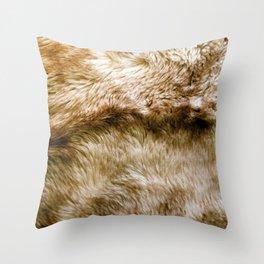 Fluffy Fur Throw Pillow