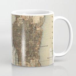 Vintage Map of Seattle Washington (1908) 2 Coffee Mug