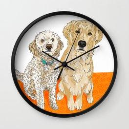 Two Buddies Wall Clock