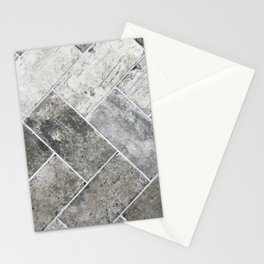 Gray tile II Stationery Cards