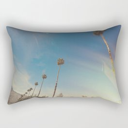 California Palm Trees Sun Flares Rectangular Pillow