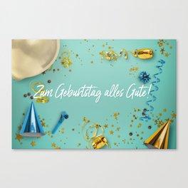 Zum Geburtstag alles Gute Party Scene Layflat Canvas Print