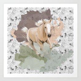 Pretty Palomino Art Print