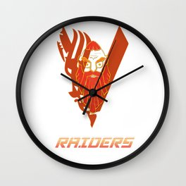 RAIDERS! Wall Clock