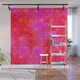 Pink Geometric Triangles Wall Mural