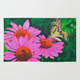 A Visitor In The Garden by Teresa Thompson Rug