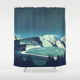 Alpine Hut Shower Curtain