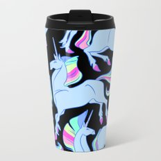 Ultraviolet rainbow unicorns Metal Travel Mug