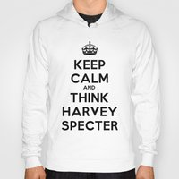 suits Hoodies featuring KEEP CALM - HARVEY SPECTER SUITS by Mental Activity