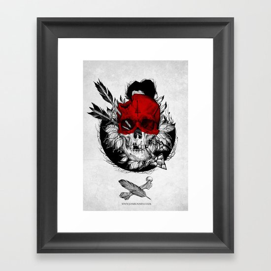 Arrow to the head Framed Art Print