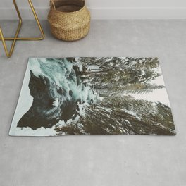 The Wild McKenzie River Portrait - Nature Photography Rug