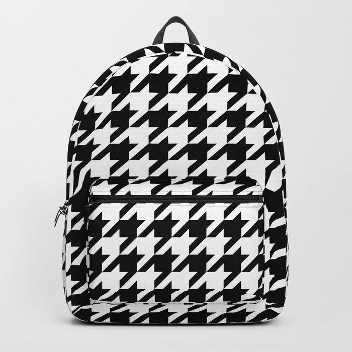 White/Black Houndstooth Backpack