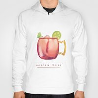 moscow Hoodies featuring Moscow Mule by Nan Lawson