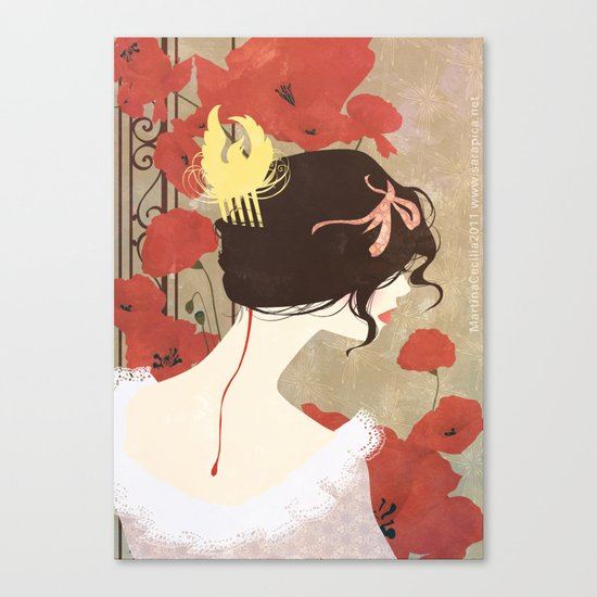 SnowWhite - the comb Canvas Print