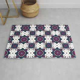 Jeweled garden - repeating mandala pattern  Rug