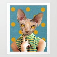 dot Art Prints featuring DOT by Julia Lillard Art