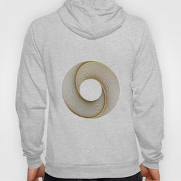 Geometrical Line Art Circle Distressed Gold Hoody
