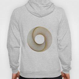 Geometrical Line Art Circle Distressed Gold Hoody
