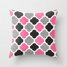 cosmopolitan clover Throw Pillow