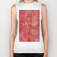 american psycho Biker Tanks featuring American Psycho by Robert Payton