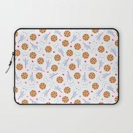Happy Milk and Cookies Pattern Laptop Sleeve