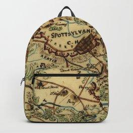 Vintage Spotsylvania Virginia Civil War Map (1865) Backpack