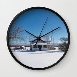 blanket of snow Wall Clock