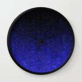 Blue & Black Glitter Gradient Wall Clock