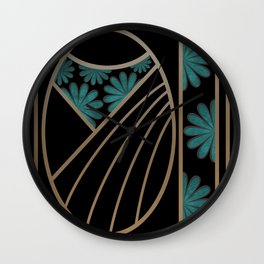 ART DECO FLOWERS (abstract) Wall Clock