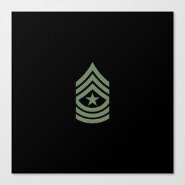 Sergeant Major (Green) Canvas Print