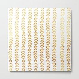 Trellis of Gold leafs Metal Print