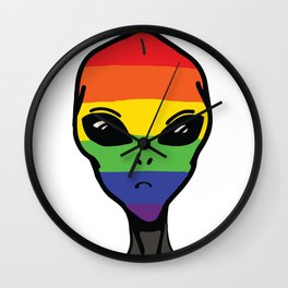 Gay alien Wall Clock