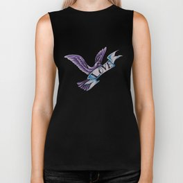 The Dove Of Love Biker Tank
