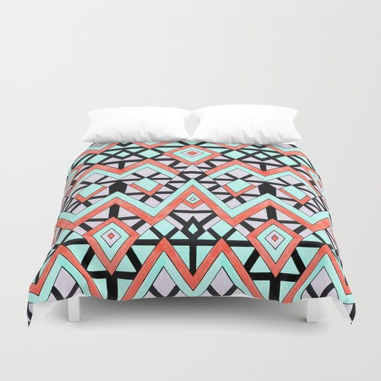 Geometric Mountains Duvet Cover