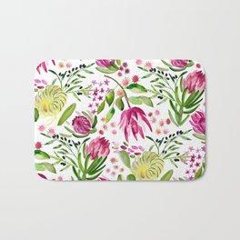 Protea Flower Bloom Bath Mat