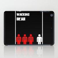 the walking dead iPad Cases featuring The Walking Dead Minimalist by Joe Hilditch