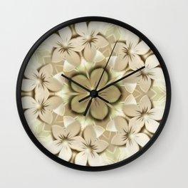 Delux Cream Flowers Wall Clock