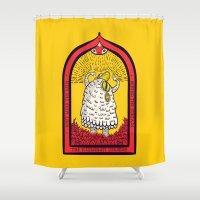 illuminati Shower Curtains featuring The Illuminati Uprising by Popnyville