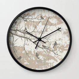 Dark birds Wall Clock