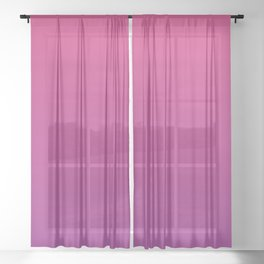 Pink Yarrow & Purple Cactus colors ombre abstract illustration  Sheer Curtain