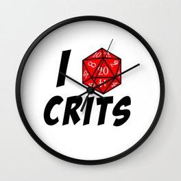 I heart Crits Wall Clock