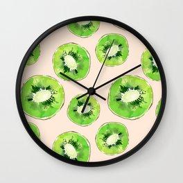 Kiwis pattern Wall Clock