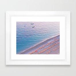 Positano Italy Sunset Beach Framed Art Print