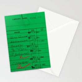 LIbrary Card 23322 Green Stationery Cards