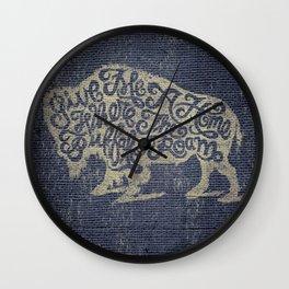 Give Me A Home Where the Buffalo Roam Wall Clock