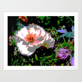 Melted Flowers Art Print