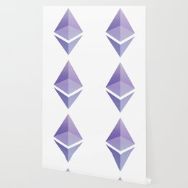 Ethereum ETH Blue Purple Logo Design Wallpaper