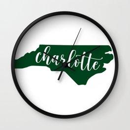 Charlotte State Script Wall Clock